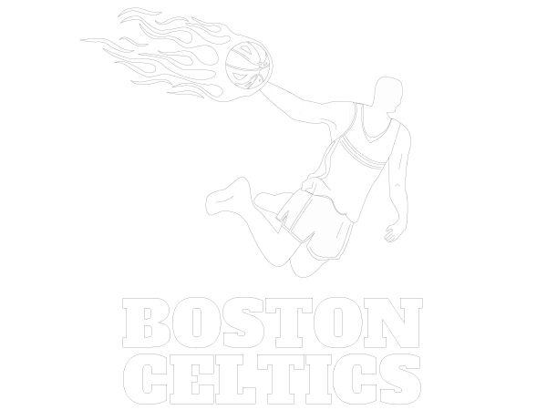 Excelente Colorear Baloncesto Celtics Composición - Dibujos de ...
