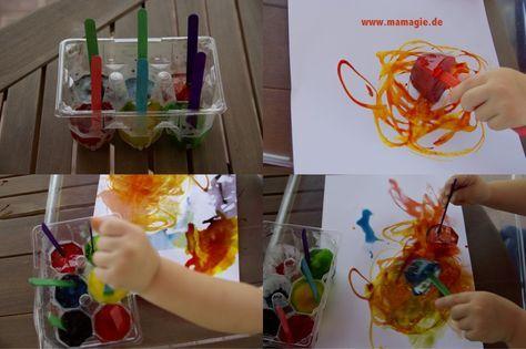 Malen mit  Eisfarben