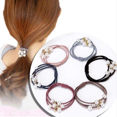 2018 haarschmuck perle elastische gummibänder ring headwear mädchen elastisches haarband pferdeschwanz halter haargummi seil haarschmuck
