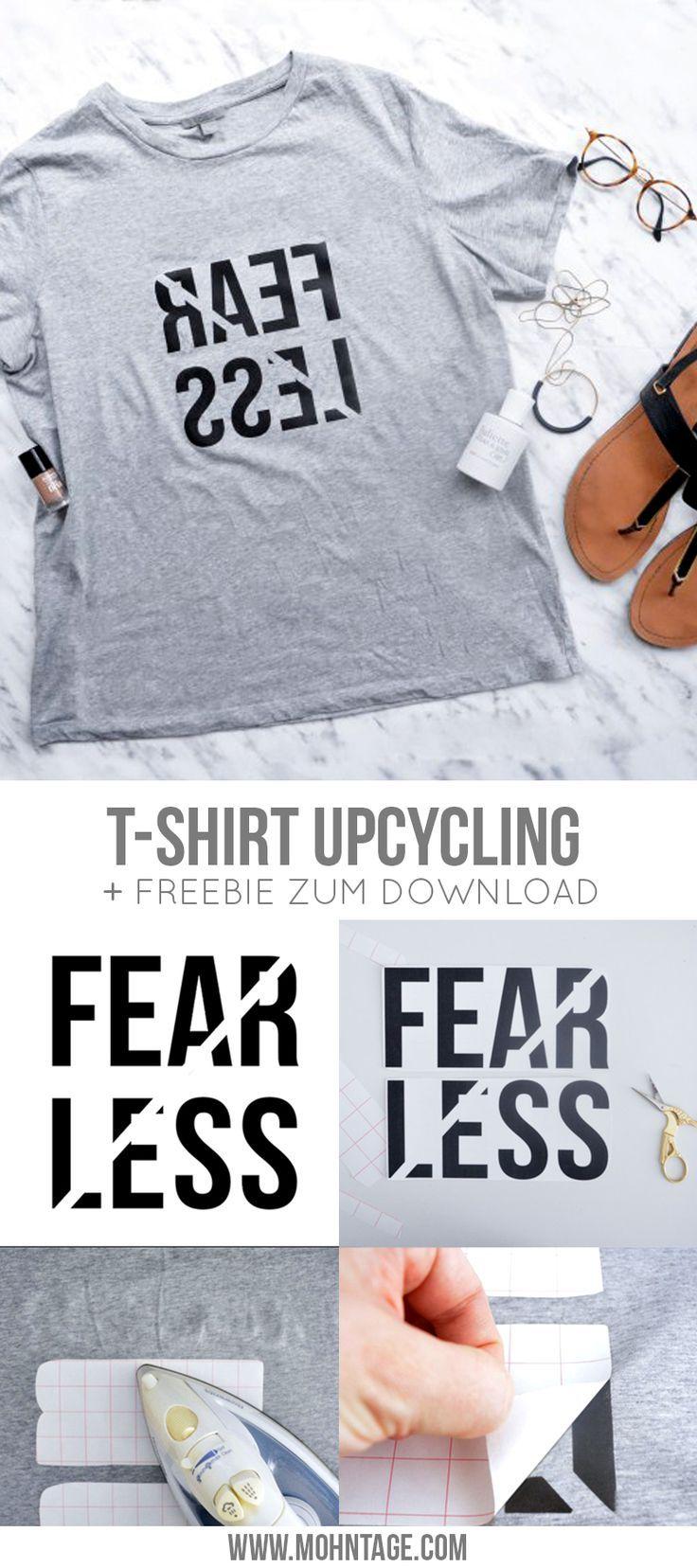 Diy T Shirt Print Als Freebie Fearless Blogger Diy Shirt