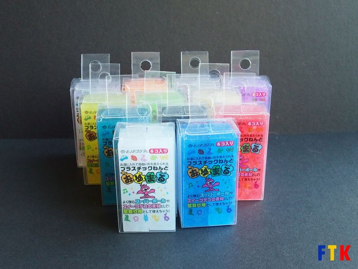 Oyumaru Reusable Molding Stick (Instant, Moulding stick) - Various Colors: 6 pcs #Oyumaru