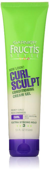 Dimethicone, mineral oil, and waxes. ~ Garnier Fructis Style Curl Sculpting Gel, 5.1-Fluid Ounce