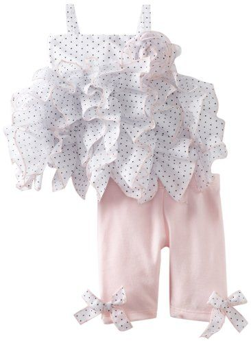 Kate Mack Baby-Girls Infant Jenny Annie Dots Tunic and Legging, White/Black, 12 Months Kate Mack