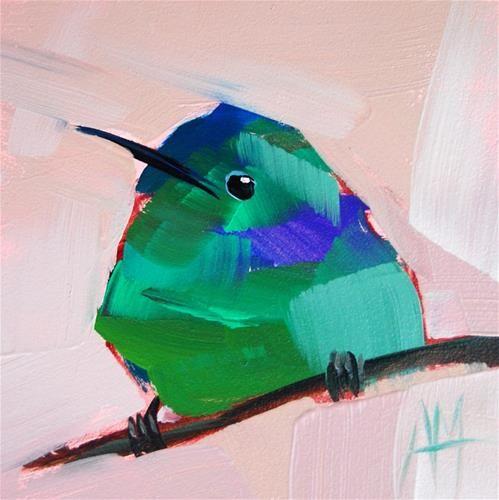 """Hummingbird no. 34 Painting"" - Original Fine Art by Angela Moulton..."
