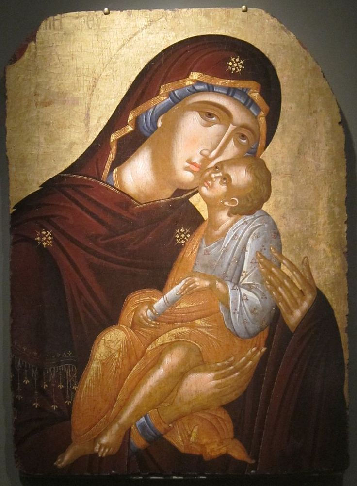 Angelos Akotantos ~ Icon of the Mother of God and Infant Christ, c.1425-50