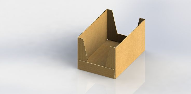 Structural packaging design of corrugated cardboard (collomodule size)