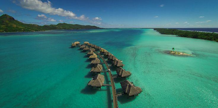 Floating Above Bora Bora