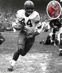 Ernie Davis, the first African-American athlete to win the Heisman Trophy.  Davis died of Leukemia in May of 1963 at the age of 23.