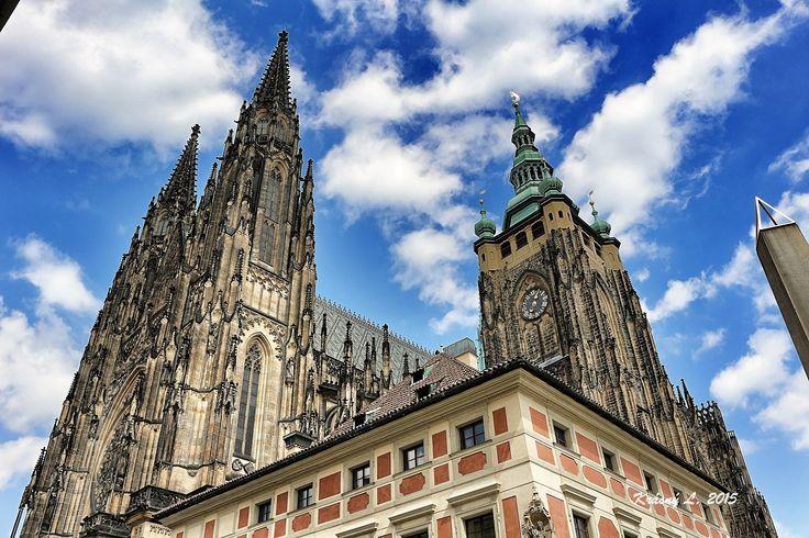 Svatovitská Katedrála pohled do nebe