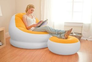 Intex Inflatable Orange Cafe Chaise Chair