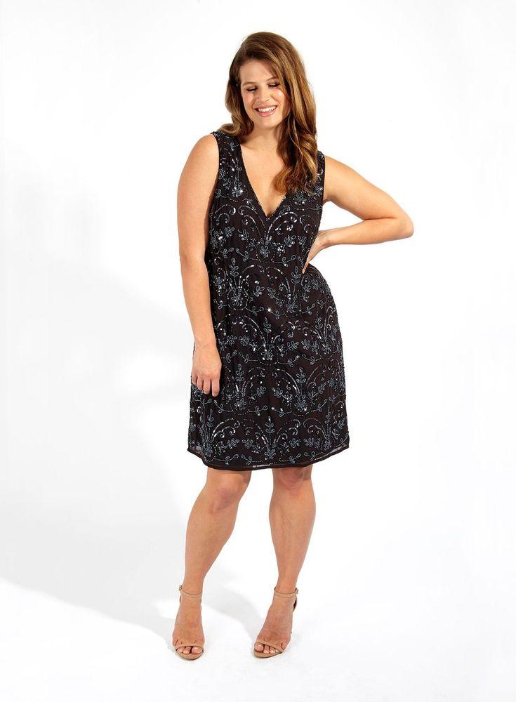Lovedrobe Grey Hand Embellished Shift Dress - Sale - Clothing - Sale - Evans