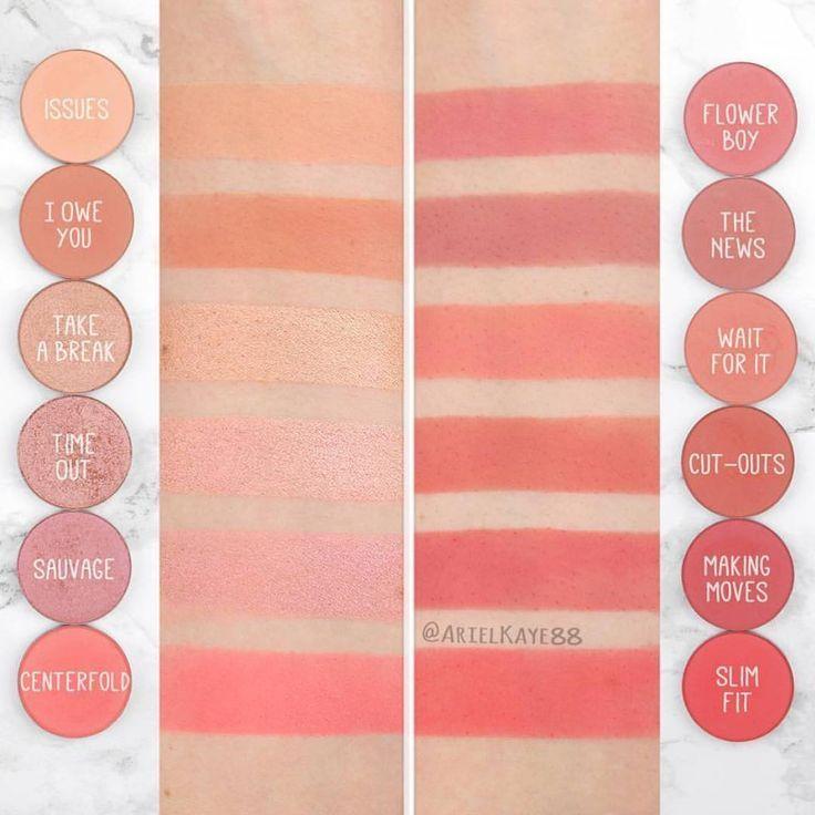 Comparisons Blush Makeup Makeup Swatches Colourpop
