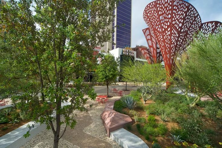 Дизайн современного парка в городе Лас-Вегас Стрип