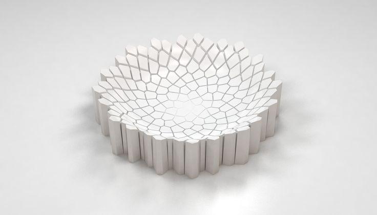 Rendered concept for a ceramic bowl (1/2), Jalte Windum (www.jaltewindum.com).