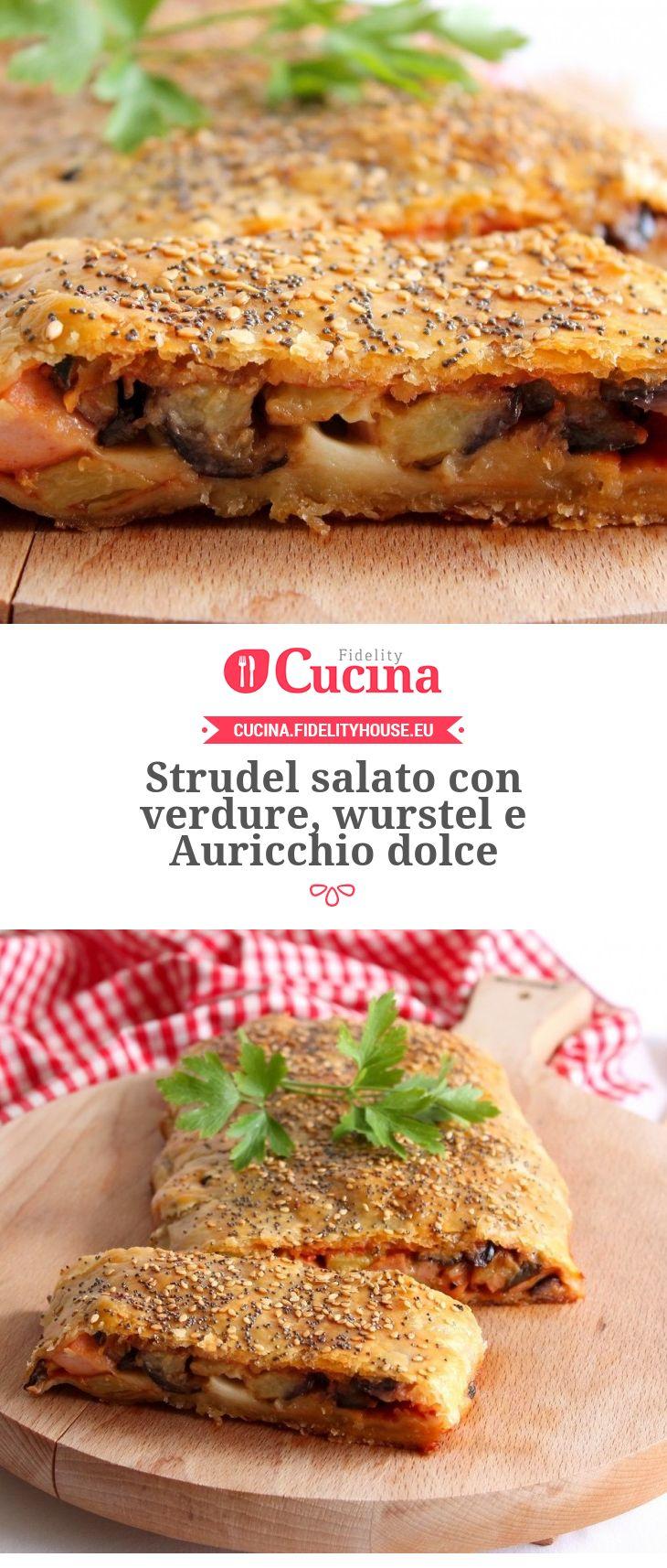 Strudel salato con #verdure, #wurstel e #Auricchio dolce della nostra utente Giovanna. Unisciti alla nostra Community ed invia le tue ricette!