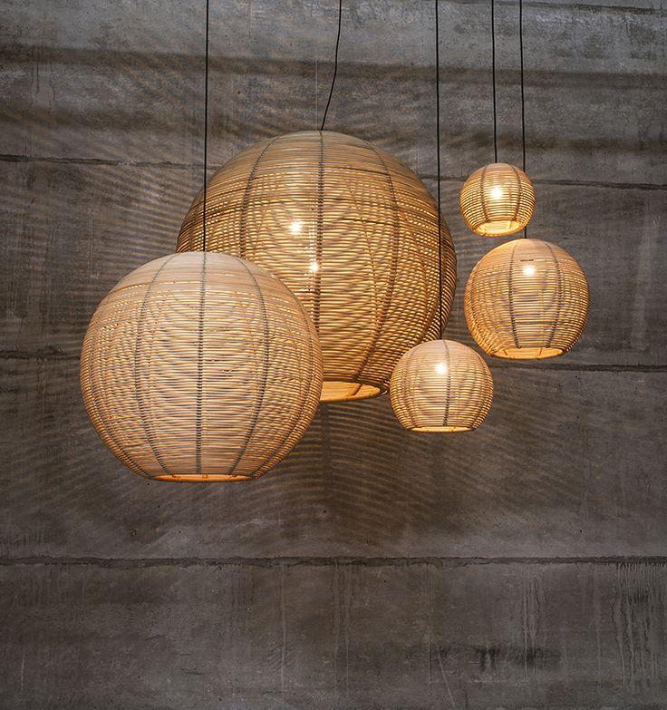 Pendant Lamp Contemporary Rattan Led Lighting