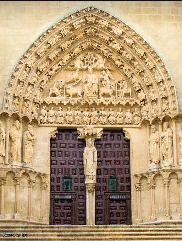 Puerta del Sarmental, built in the 13th century, Cathedral of Burgos, Spain