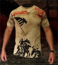 APOCALYPSE MMA T Shirts USMC DEVIL DOG Grunge MMA Shirt