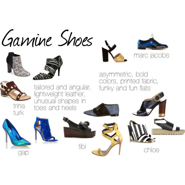 (Pinning this to remind me that I am not real fond of the Gamine style shoe for myself, they are great for other true Gamine types, however!!)   Gamine Shoes by expressingyourtruth on Polyvore featuring Dune, Steve Madden, Trina Turk LA, TIBI, Chloé, See by Chloé and Marc Jacobs