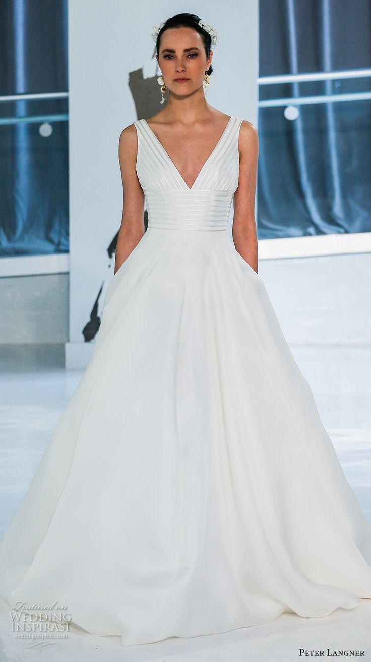 Best 25 modern wedding dresses ideas on pinterest sleek wedding peter langner spring 2018 wedding dresses new york bridal fashion week runway show ombrellifo Image collections