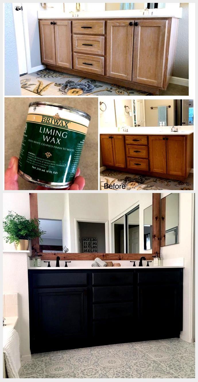 Diy Lime Wax On Honey Oak Cabinets Honeyoakcabinets Diy Lime Wax On Honey Oak C In 2020 Honey Oak Cabinets Oak Cabinets Staining Oak Cabinets