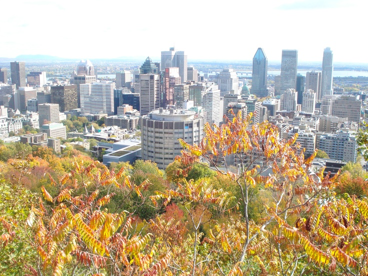 Montreal on top of Mont Royal