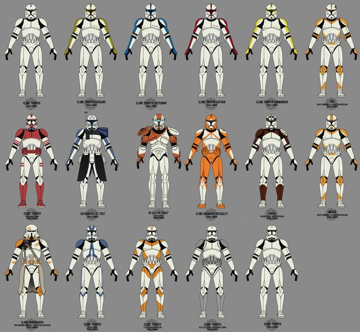 Old Clone Trooper Collection by TheMatsuyama