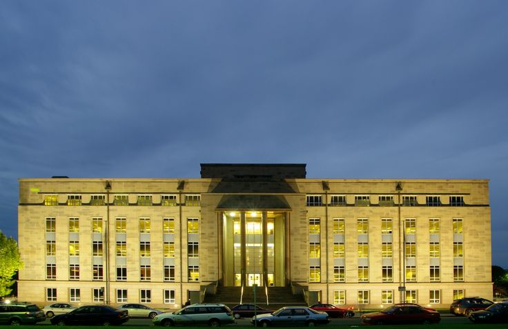 The John Gorton Building (Administrative Building) in Canberra, which houses the Department of Finance and Administration and the Department of the Environment and Water Resources.