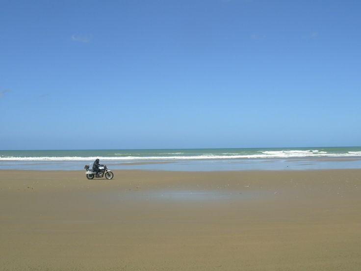 Sun, sea, surf, and ... a Triumph Scrambler??