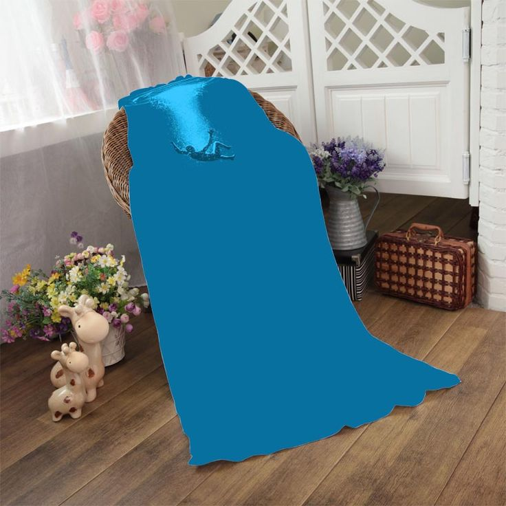 Funny Water Swimming Minimalism Blue Soft Beach Towel Sports Towel Hotel Bathroom Bath Shower Drying Washclothh Small Blanket