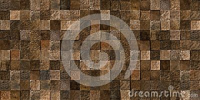 A seamless texture of log ends tiles, showing the natural grain of the wood. The decorative panel made from a natural material used in a modern manner.