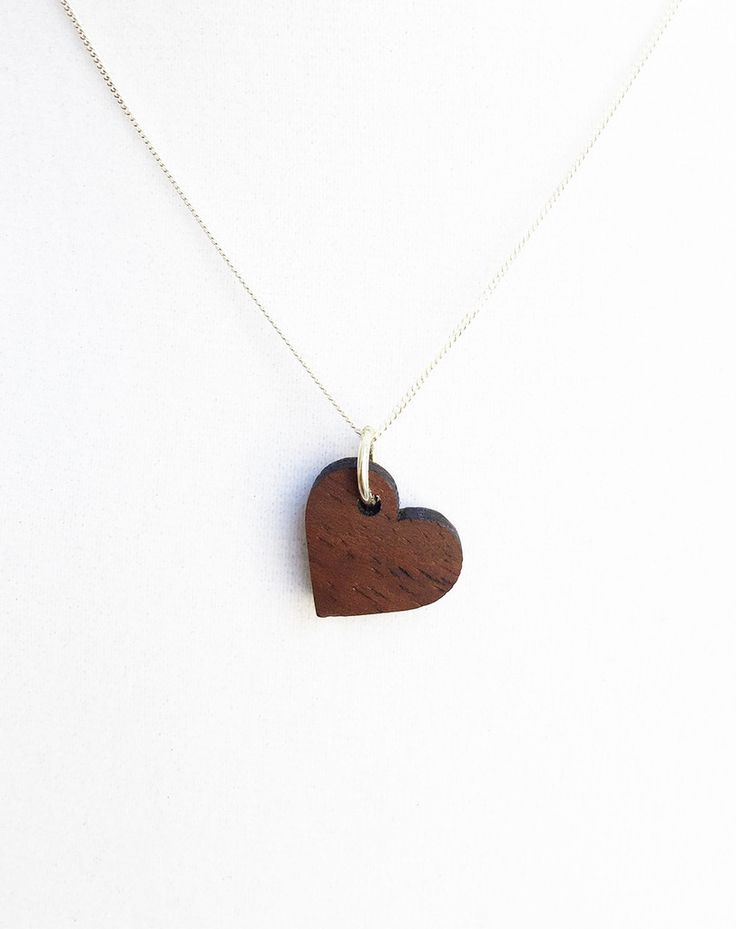 LOVE HEART | 5 Year Anniversary Gift | Wood Necklace