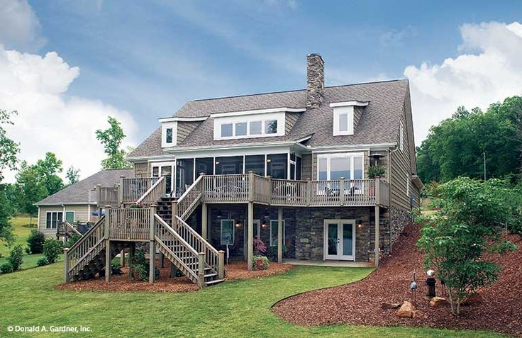 With old world charm this house plan features stone and for Home designs newcastle