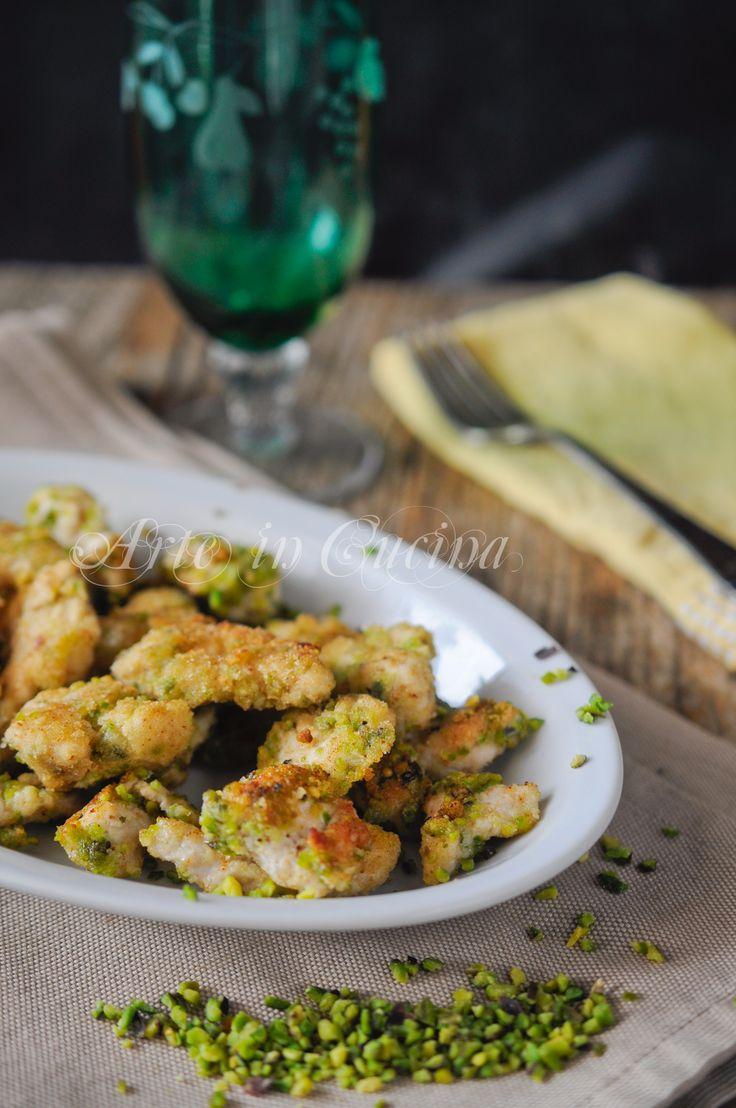 Straccetti di pollo ai pistacchi ricetta sfiziosa vickyart arte in cucina