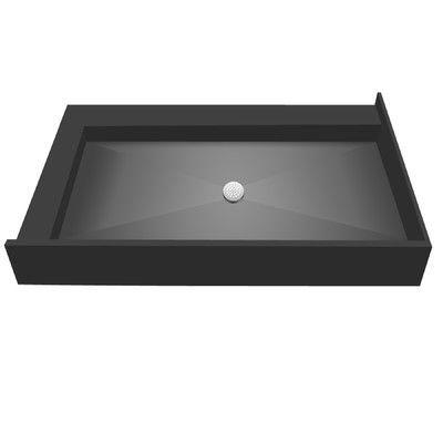 """Tile Redi Double Curb Shower Pan Size: 7"""" H x 60"""" W x 34"""" D"""