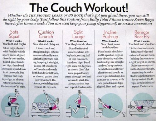 Couch workout by WeAreAllMadHere