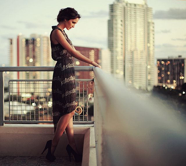 beautiful image on a balcony. shallow depth of field draws you in perfectly