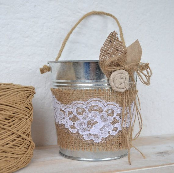 How To Make A Basket For Flower Girl : Ideas about flower girl basket on