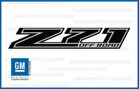 Chevy Silverado Z71 Offroad Truck Black Blackout Stickers Decals - FBLK (2014-2015) Bedside (Set of 2)