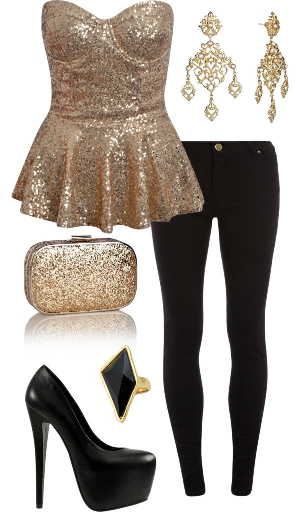 "Don't know if I can pull it off, but I like the idea of this outfit. ""Beyonce Bling"" by laurenngurd on Polyvore"
