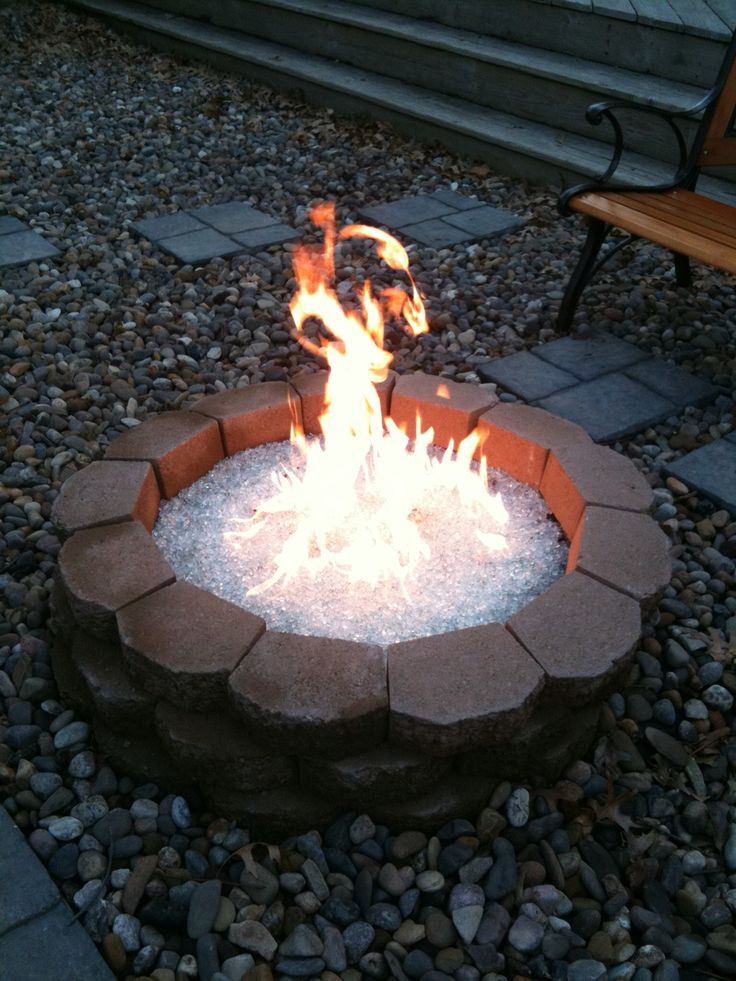 Cute Diy Home Decor Ideas: Diy Gas Fire Pit With Recycled Pyrex Glass