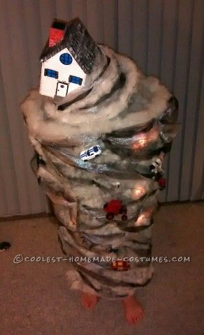 I came up with the idea for this tornado costume after watching the movie Twister for the first time with my 6 year old son and he started spinning ...