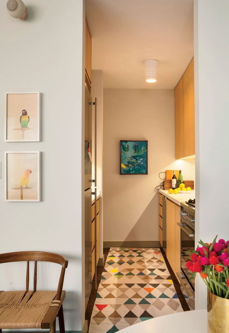 Small Modern New York City Studio With Galley Kitchen With