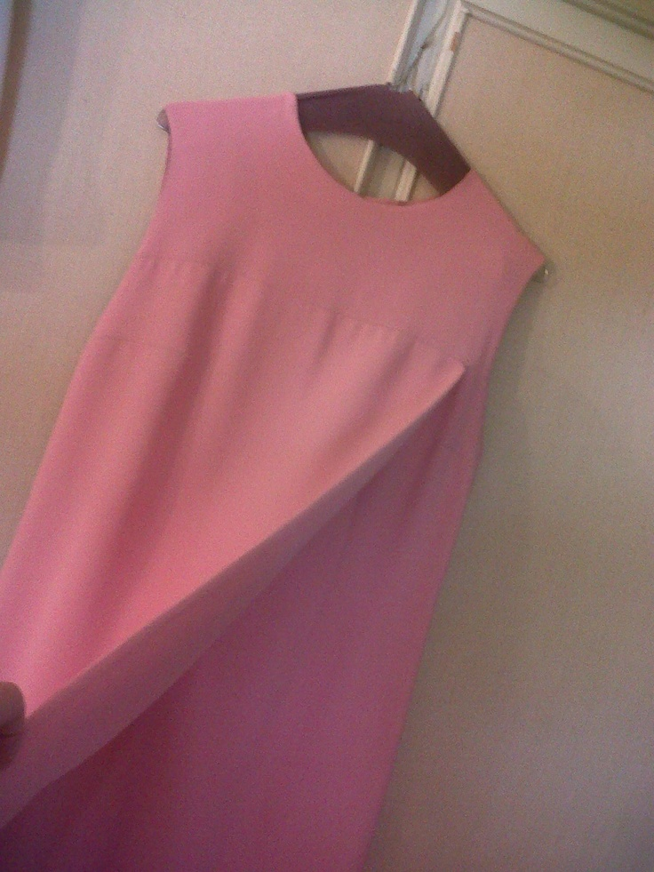 70s pink gabardine cocktail dress (particular)