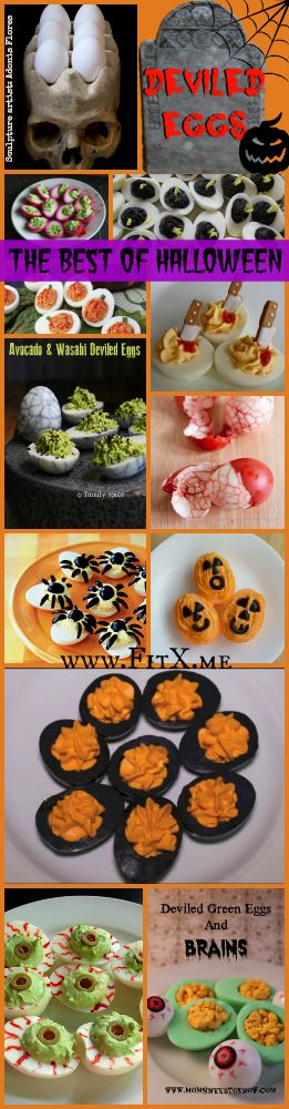 Halloween Deviled Eggs Ideas!