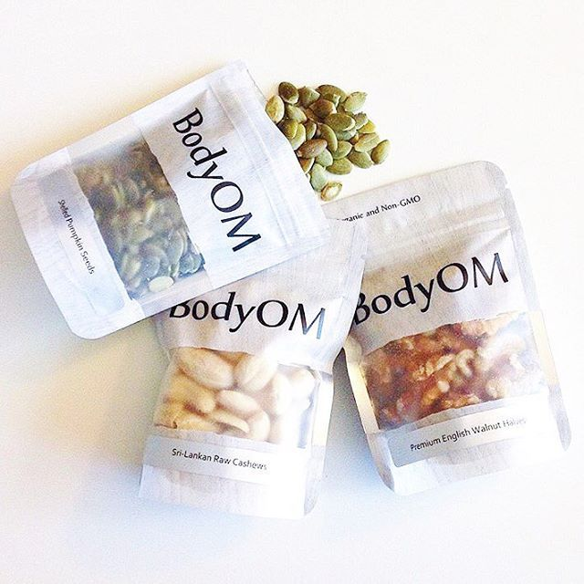 clear frosted packaging. BodyOM packaging. curated by @copiousbags
