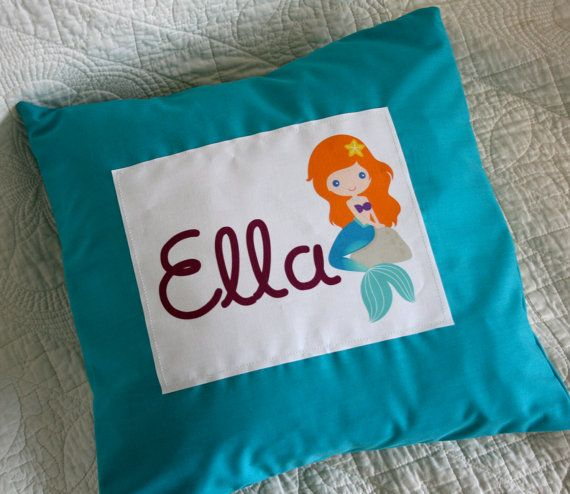 Custom Name Cover and PillowDisney Princess 14x14 by sweetfloweret, $18.00