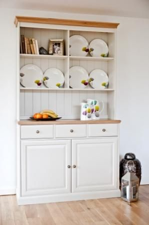 Our Intone Dresser makes a lovely backdrop for displaying your favourite crockery and treasured memories.
