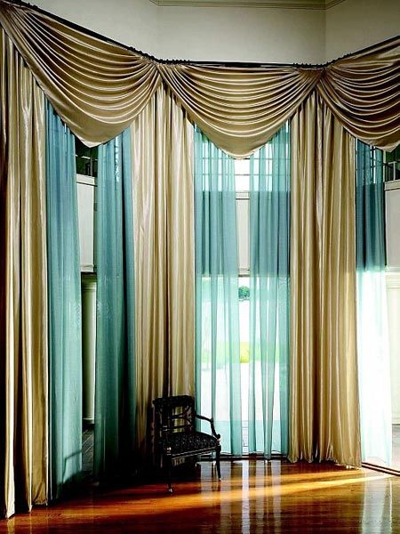 Attractive Combination Of Different Colors 10 Curtain Ideas For Living Room For  Brilliant Look