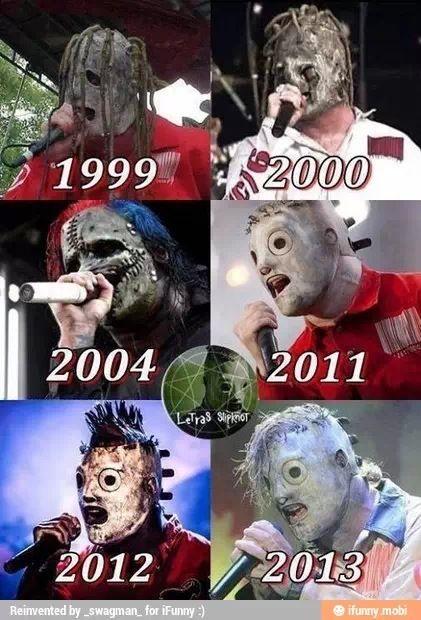 Slipknot - Corey's masks through the years